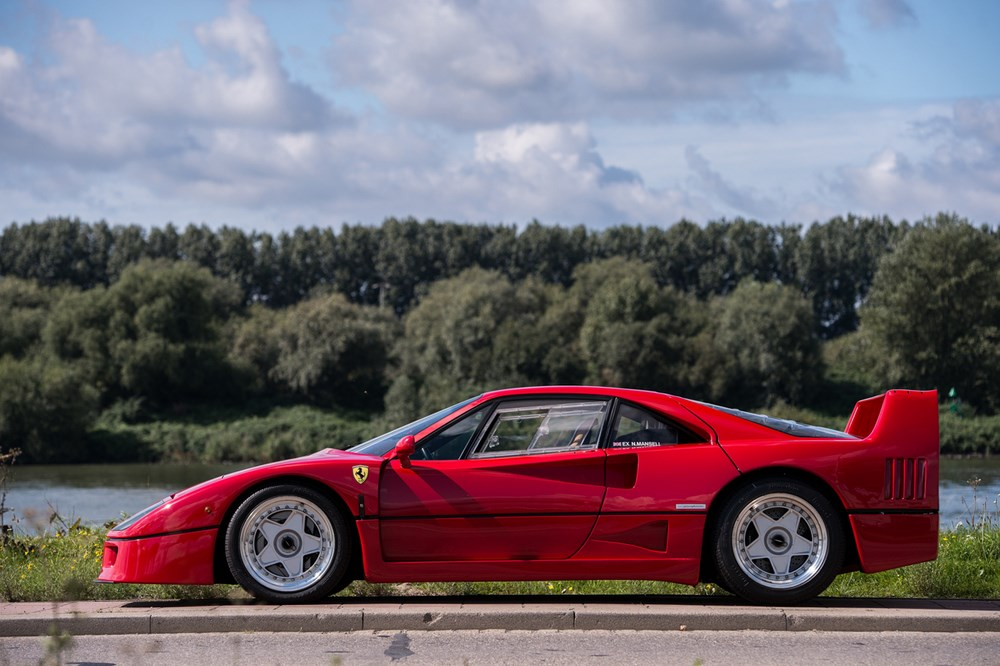 La bellísima F40 ex-Mansell, alarde de diseño e ingeniería y fiel testigo de los superdeportivos de los 80...